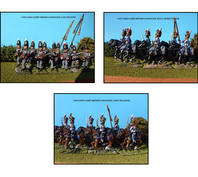 BRITISH NAPOLEONIC PAINTED UNITS