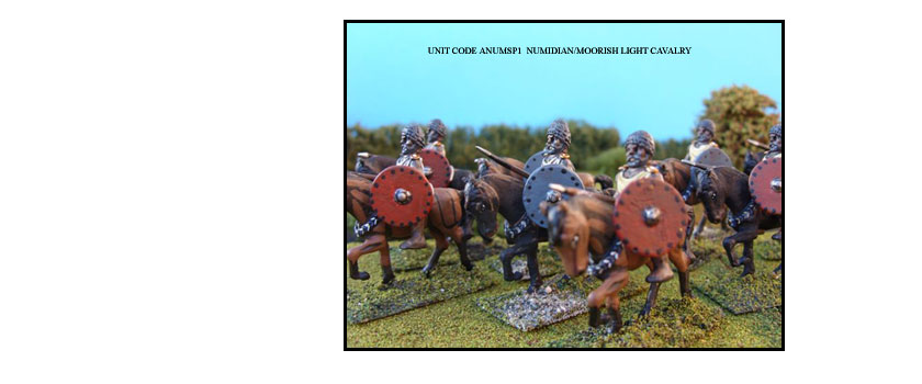 NUMIDIAN/MOORISH PAINTED UNITS