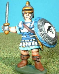 ACAR5 Paint type A.Liby-Phoenician Officer. cuirass, helmet and armed with spear and distinctive