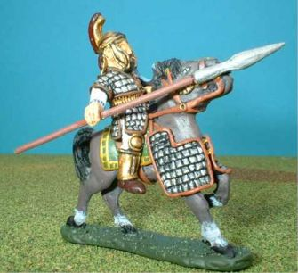 AT4 Thracian Noble cavalryman. Horse is H11a, half armoured.