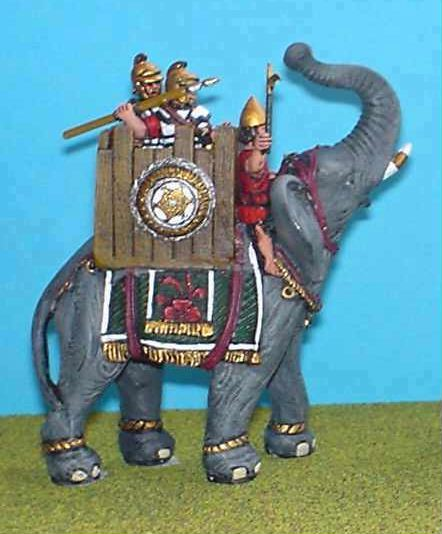 ECAR1 Carthaginian/Successor Elephant with Tower,driver and two crew.